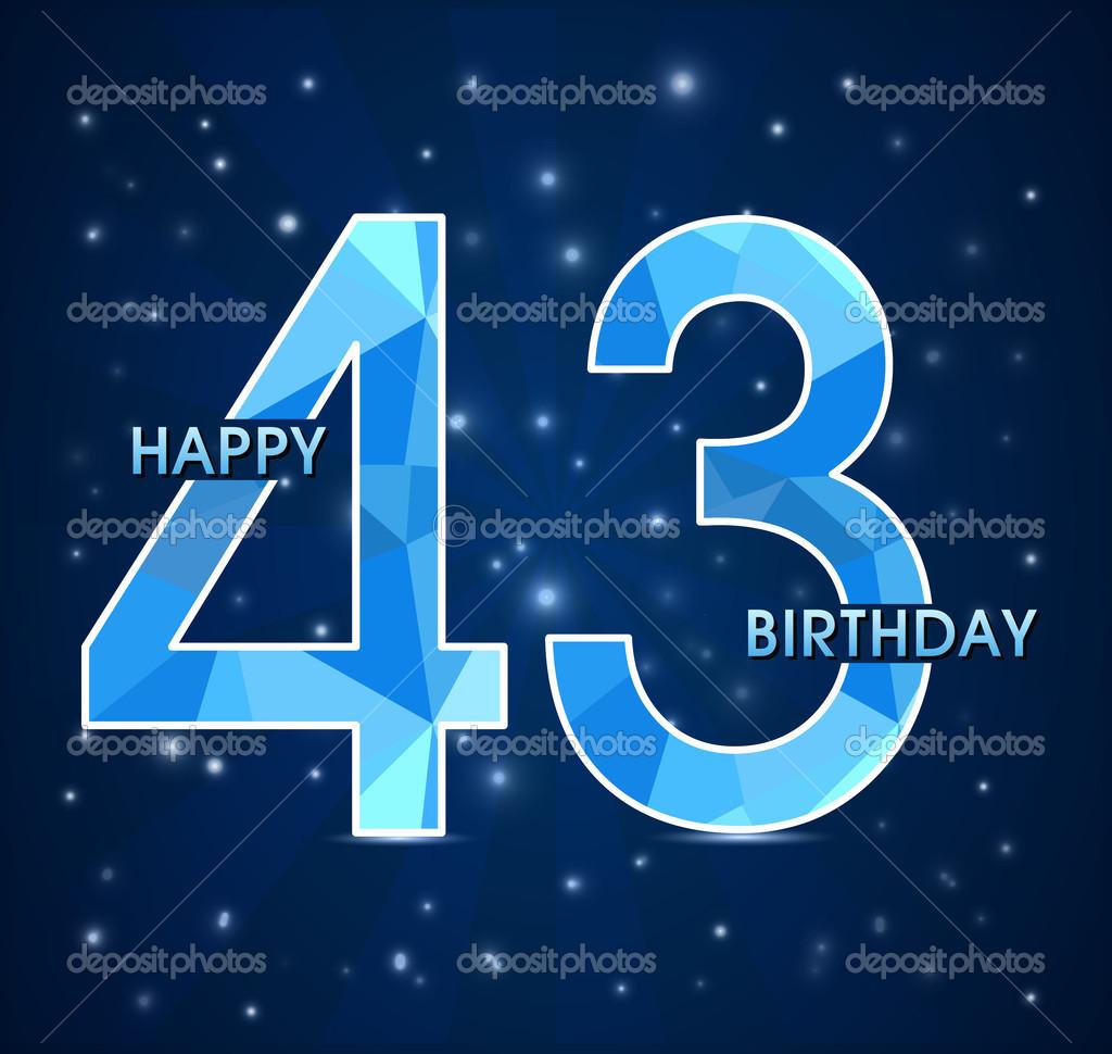 Поздравление 43 года мужчине