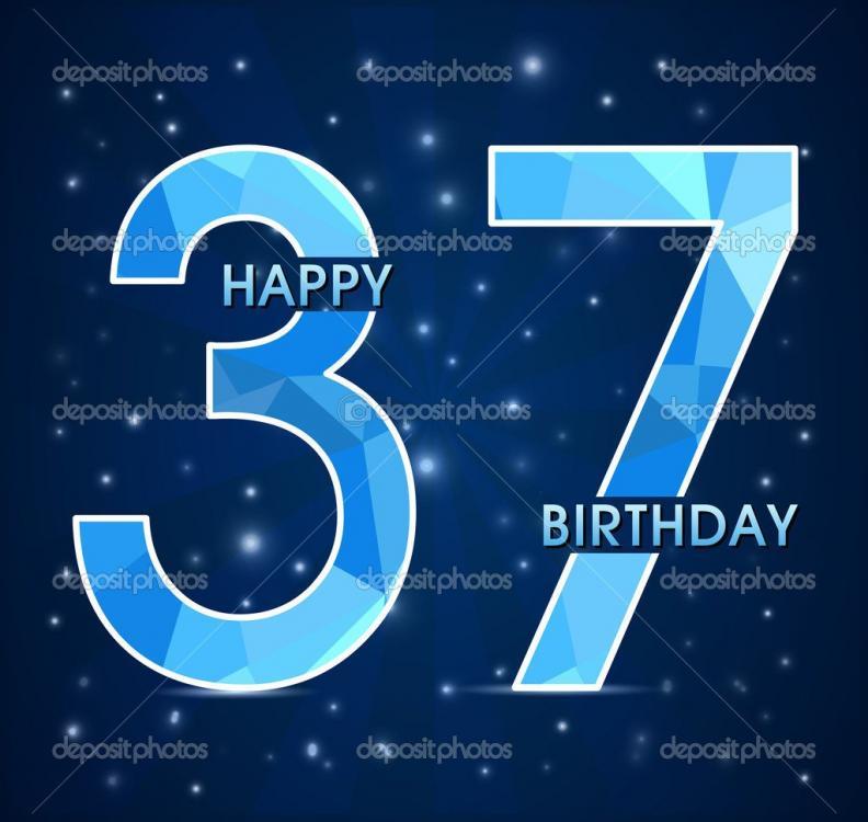 Открытка для, 37 лет картинки с днем рождения